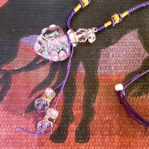"Jewelry - Hand blown Glass ""parfum bottle"" necklace"